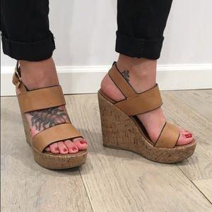Steve Madden Esme cork wedge sandals